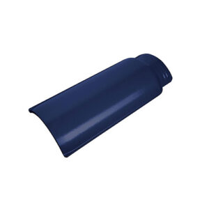 Wave Roof Tile - Ridge Cobalt Blue