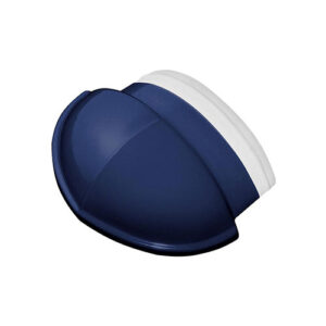Wave Roof Tile - Ridge End Cobalt Blue
